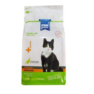 غذای خشک گربه پاو پاو مدل Salmon وزن 1.5 کیلوگرم