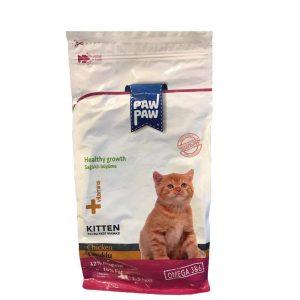 غذای خشک بچه گربه پاو پاو مدل kitten وزن 1.5 کیلوگرم