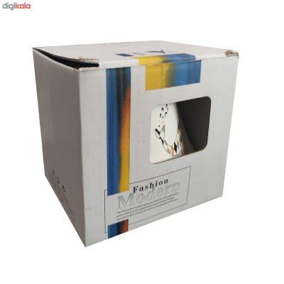 ماگ فشن مدل Gazelle درب دار سفید رنگ