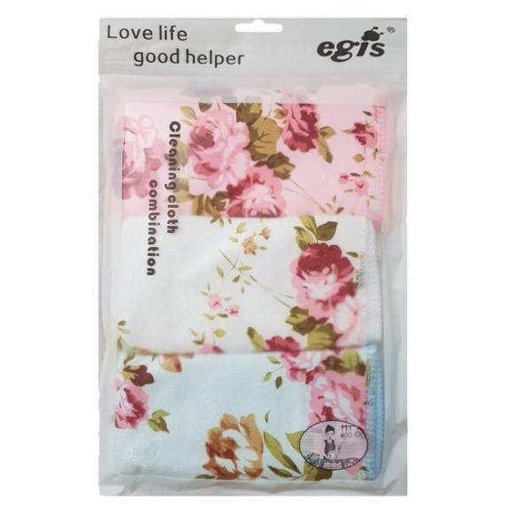 دستمال آشپزخانه گلدار اگیس بسته 3 عددی 2