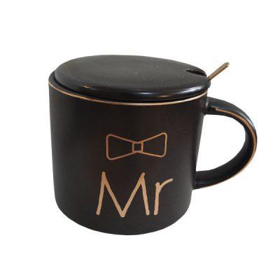 ماگ مشکی سرامیکی مدل MR