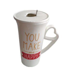 ماگ فانتزی مدل HAPPY به قیمت عمده کد 1037